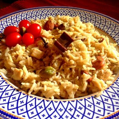 89-Basmati-speziato-con-pollo-e-frutta-secca